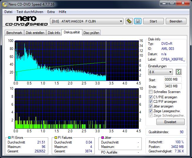 520 Intenso DVD+R 16x Printable (AML 003) W10-32 V2004 Business LiteOn iHAS 124B AL0S Scan LiteOn iHAS 324 F Q90 (G2020-S2020)