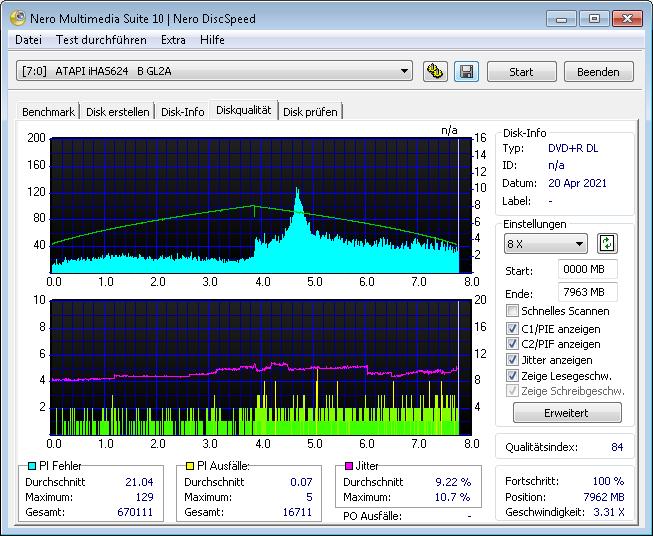 HP DL BDR 8x 1