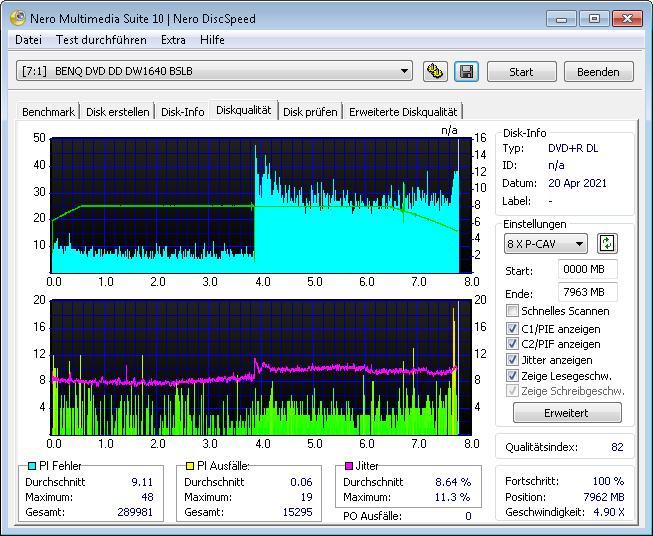 Platinum DL CMC BDR 8x 1 scan BenQ