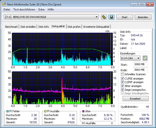 MediaRange DL 8x Ume BDR 4x 1 scan BenQ