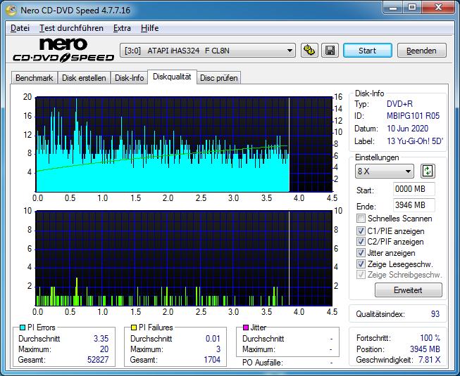 13 Memorex DVD R 16x (MBIPG 101 R05) Yu-Gi-Oh 5D´s 13 LG BH16NS40 (NS51) 1.03 Scan LiteOn iHAS 324F Q93 (G2020-S2020)