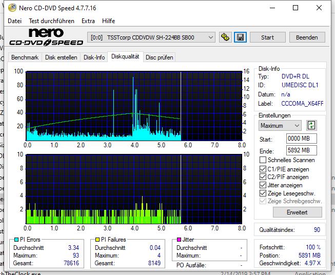 G14 NoName by Ricoh DVD+R 8.5GB 8x (UMEDISC DL1) W10-64 V20H2 LG GH24NSD1 LG00 Scan Samsung SH-224BB (Cyan) Q90 (G2021-S2021)