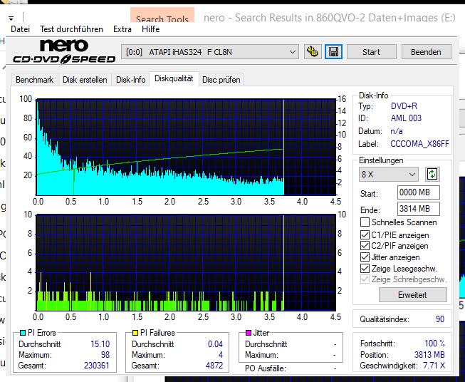 537 Intenso DVD+R 16x Printable (AML 003) W10-32bit Consumer V1909 LG GH24NSD5 LV00 Scan LiteOn iHAS 324F Q90 (G2021-S2021)