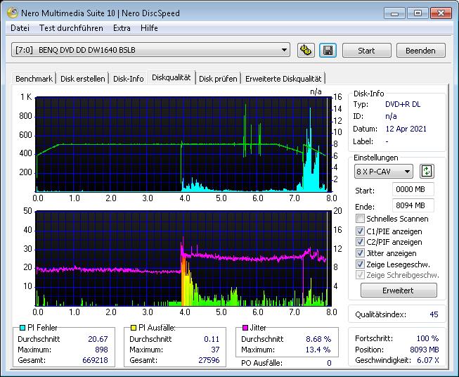 MediaRange DL 8x Ume FB 6x scan BenQ