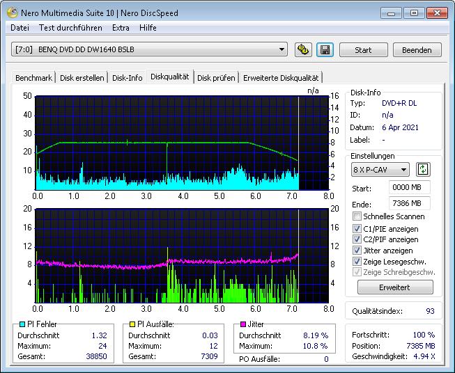 MediaRange DL 8x Ume BDR 4x 2 scan BenQ