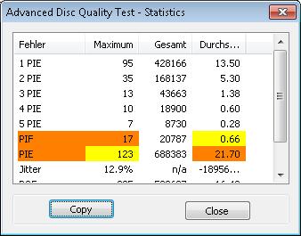 HP DL BDR 8x 1 scan BenQ erw2