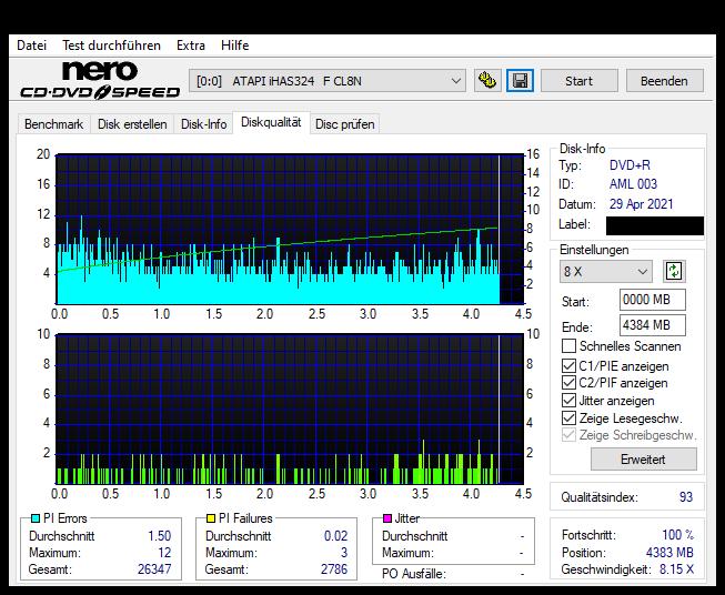 7 Intenso DVD+R 16x (AML 003) Pioneer BDR-212E 1.01 Scan LiteOn iHAS 324F Q93 (G2021-S2021)