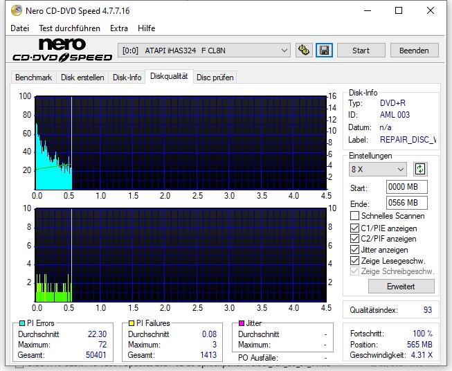 536 Intenso DVD+R 16x Printable (AML 003) W10-64bit Recovery-DVD LiteOn iHAS 124F CL9M Scan LiteOn iHAS 324F Q93 (G2021-S2021)