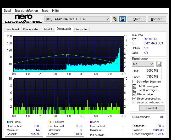 351 Intenso DVD+R DL 8x (CMC MAG D03) Vater 351 Pioneer BDR-212E 1.01 Scan LiteOn iHAS 324F Q84 (G2021-S2021)